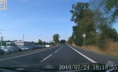 Nagranie z przejazdu w Lubinie