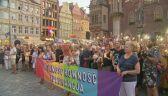 Manifestacja solidarności z członkami Marszu Równości z Białegostoku we Wrocławiu