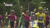 Konsumpcja szampana Team Ineos zakłócona przez Petera Sagana