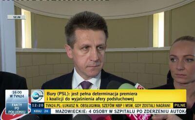 Jan Bury: koalicja trwa co najmniej do końca wakacji