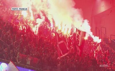 Kibice PSG po przegranym z Bayernem finale Ligi Mistrzów
