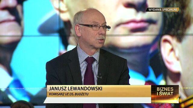 Gościem TVN24 Biznes i Świat był Janusz Lewandowski