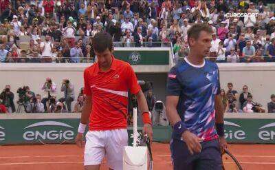 Skrót meczu Djoković - Laaksonen w drugiej rundzie Roland Garros