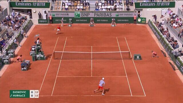 Skrót spotkania Novak Djoković - Hubert Hurkacz