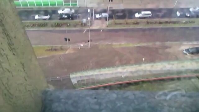 Mężczyzna uwięziony w tunelu w czasie ulewy w Gdańsku