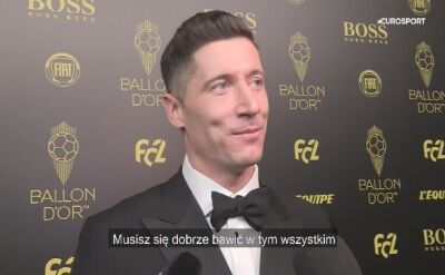 Robert Lewandowski po gali France Football