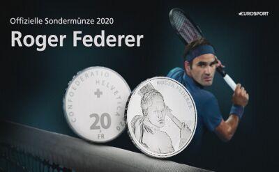 Roger Federer znalazł się na szwajcarskiej monecie