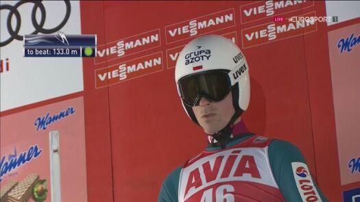 Skok Piotra Żyły w kwalifikacjach w Niżnym Tagile
