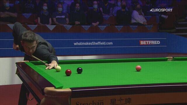 Brejk 126 Marka Selby'ego w półfinale MŚ z Binghamem