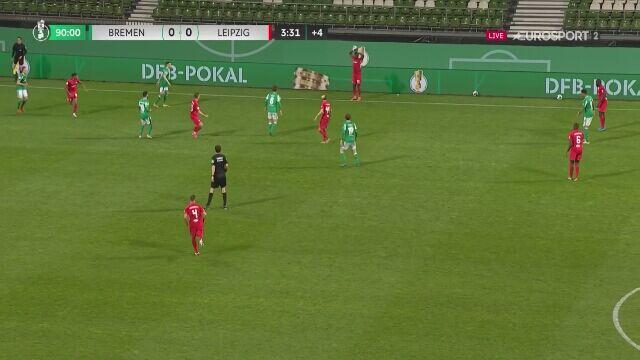 Zmarnowana szansa RB Lipsk w 94. minucie półfinału Pucharu Niemiec z Werderem