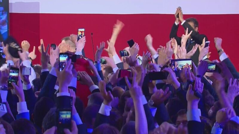 Ogromna radość w sztabie Andrzeja Dudy