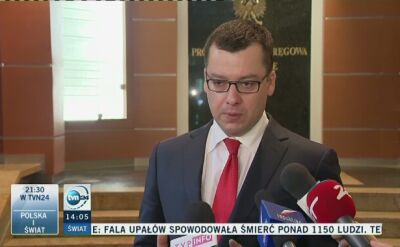 Prokuratura: jest już decyzja prokuratury o zarzutach dla pięciu osób