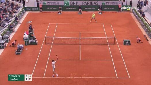 Skrót meczu Nadal - Federer