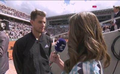 Dominic Thiem po awansie do finału Rolanda Garrosa