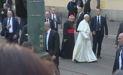 Papież Franciszek wrócił na Franciszkańską