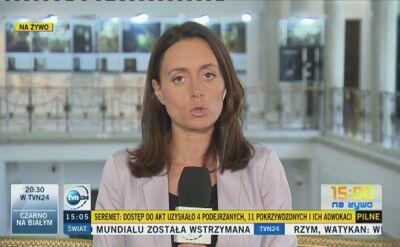 Posłowie o wystąpieniu Seremta w Sejmie
