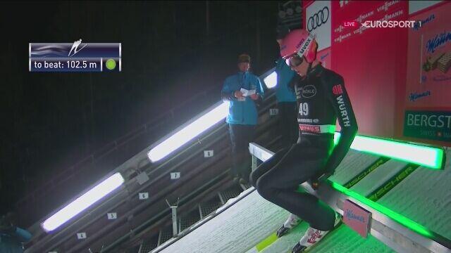 Karl Geiger wygrał w sobotę w Predazzo