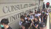 Hongkong. Protestujący odwiedzili 19 zagranicznych placówek