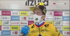 Primoż Roglić po zwycięstwie na 1. etapie wyścigu Dookoła Kraju Basków