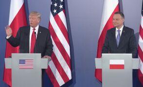 Pytania dziennikarzy do prezydentów Polski i USA