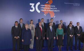 Donald Trump podczas szczytu Trójmorza