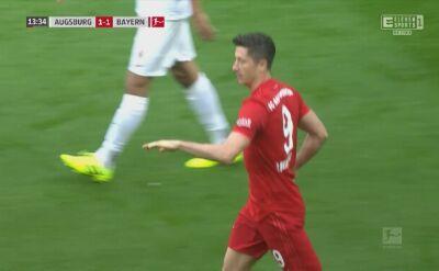 Gol Lewandowskiego w meczu Augsburg - Bayern 2:2