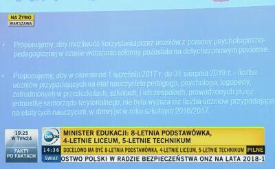 Anna Zalewska: wsparcie pedagogiczno-psychologiczne pozostanie na dotychczasowym poziomie