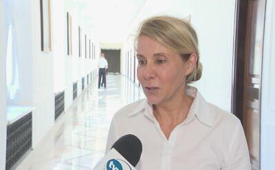 Barbara Dolniak tłumaczy moment złożenia dymisji przez marszałka Sejmu Marka Kuchcińskiego