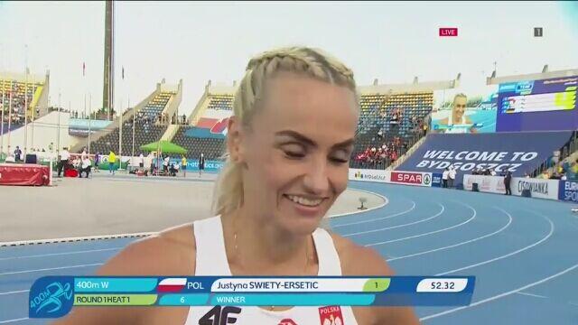 Święty-Ersetic awansowała do finału biegu na 400 m