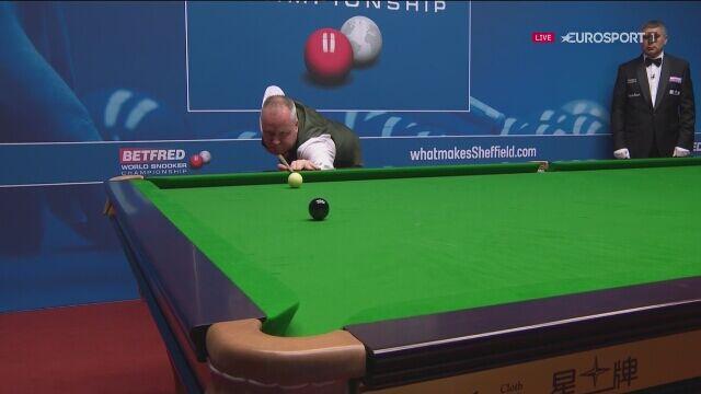 Maksymalny brejk Johna Higginsa w mistrzostwach świata