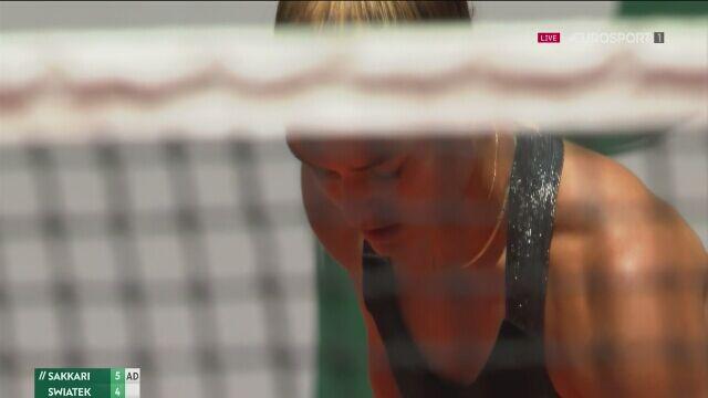 Maria Sakkari wygrała 1. seta ćwierćfinału Roland Garros z Igą Świątek