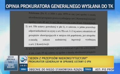 Opinia Prokuratora Generalnego dla Trybunału Konstytucyjnego w sprawie ustawy o IPN