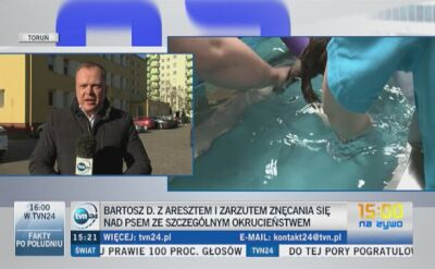 Bartosz D. z aresztem i zarzutem znęcania się nad psem