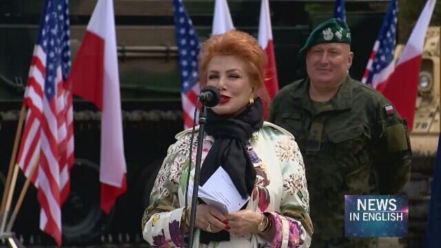 Georgette Mosbacher spoke on Polish-American relations at the military picnic in Giżycko (video from July 8)