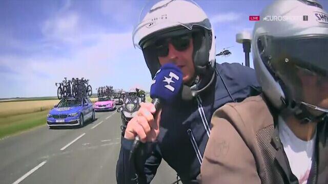 Nowa rola, ta sama energia. Tak Dariusz Baranowski relacjonował 4. etap Tour de France