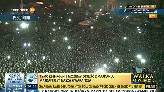 Tymoszenko: Nie macie prawa odchodzić z Majdanu