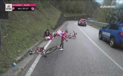 Kłopotliwy zakręt na 15. etapie Giro d'Italia