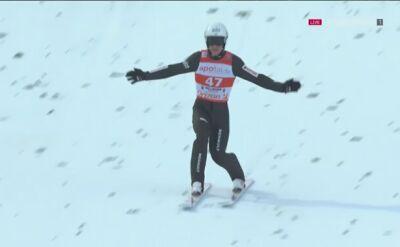 Skok Piotra Żyły z 2. serii niedzielnego konkursu w Willingen