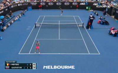 Australian Open: upadek Mertens