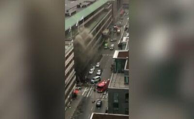 Strażacy ugasili pożar w domu towarowym w Sztokholmie