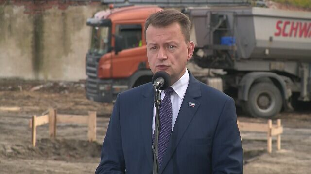 Szef MON uczestniczył w rozpoczęciu budowy w Legionowie szpitala - filii Wojskowego Instytutu Medycznego