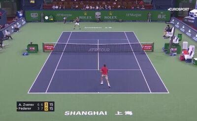 Kłótnia Rogera Federera z sędzią w Szanghaju