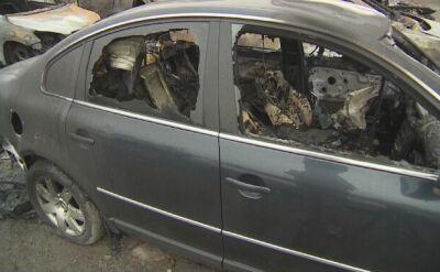 Spalone auta w Elblągu