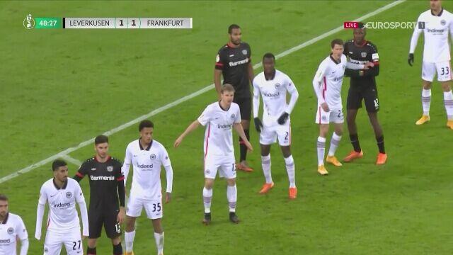 Puchar Niemiec: gol na 2:1 w meczu Bayer Leverkusen - Eintracht Frankfurt