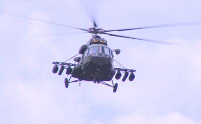 Polskie śmigłowce Mi-17 i Mi-24 na poligonie