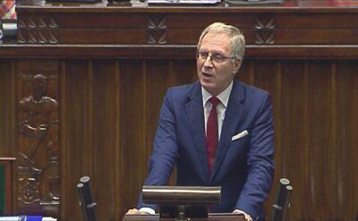 Tomasz Latos podczas debaty o aborcji w Sejmie