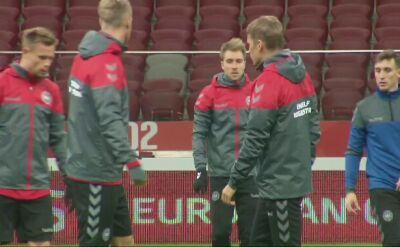Ostatni trening Duńczyków przed meczem z Polską