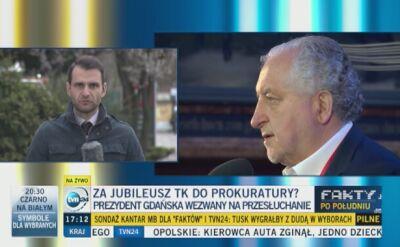 Prezydent Gdańska przesłuchany przez prokuraturę