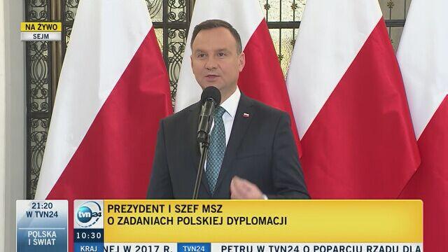 Prezydent o polityce zagranicznej: wzmacniamy naszą pozycję w UE i regionie