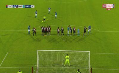 Gol Milika z Cagliari